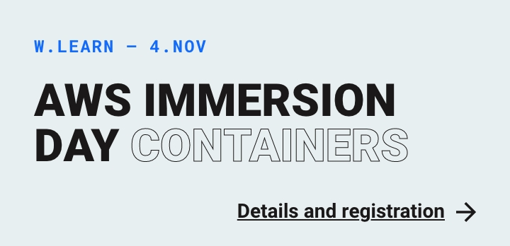 Internt: Webstep Learn - AWS Immersion Day - Containers