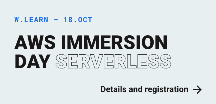 Internt: Webstep Learn - AWS Immersion Day - Serverless