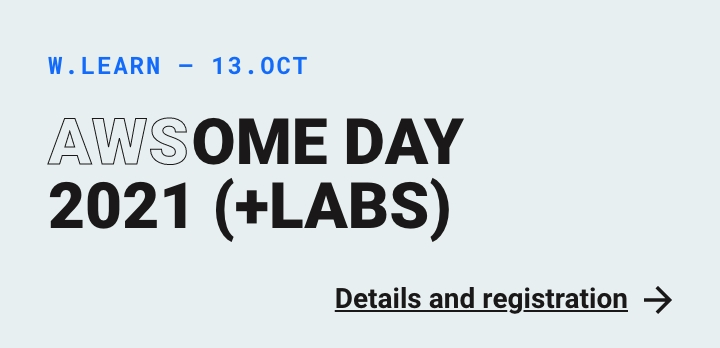Internt: Webstep Learn - AWSome Day 2021