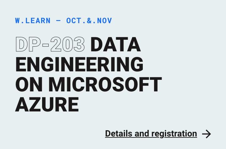 Webstep Learn - DP-203 Data Engineering on Microsoft Azure